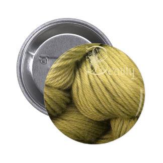 beauty button, green silk