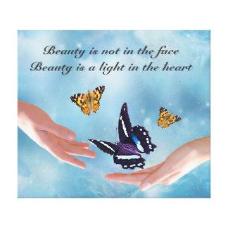 Beauty by Kahlil Gibran Canvas Print