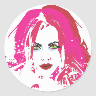Beauty by punkychicken classic round sticker