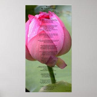 Beauty By. Tony Hoagland Poster