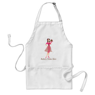 Beauty Cake WIth Rose Adult Apron