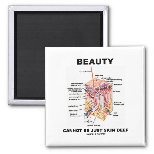 Beauty Cannot Be Just Skin Deep (Skin Layers) Refrigerator Magnets