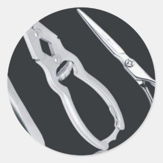 Beauty-Care-Instruments-Aerona Beauty Classic Round Sticker