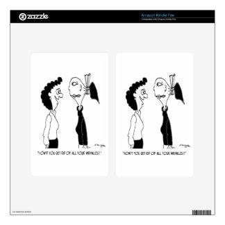 Beauty Cartoon 7853 Decal For Kindle Fire