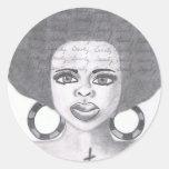 Beauty Classic Round Sticker