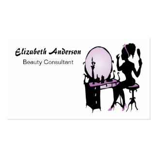 Beauty Consultant Chic Purple Black Hair Salon Double-Sided Standard Business Cards (Pack Of 100)