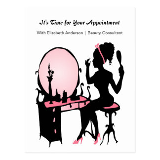Beauty Consultant Girly Girl Appointment Reminder Post Cards