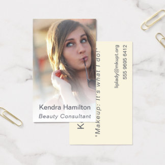 Beauty Consultant Makeup Misty Photo Template Business Card