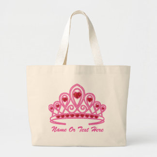 Beauty Crown Custom Large Tote Bag