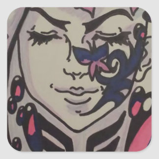 """Beauty"" Design Square Sticker"