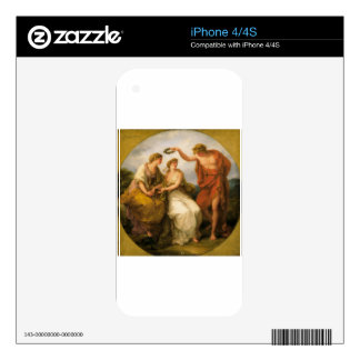 Beauty Directed by Prudence by Angelica Kauffman Decals For The iPhone 4S