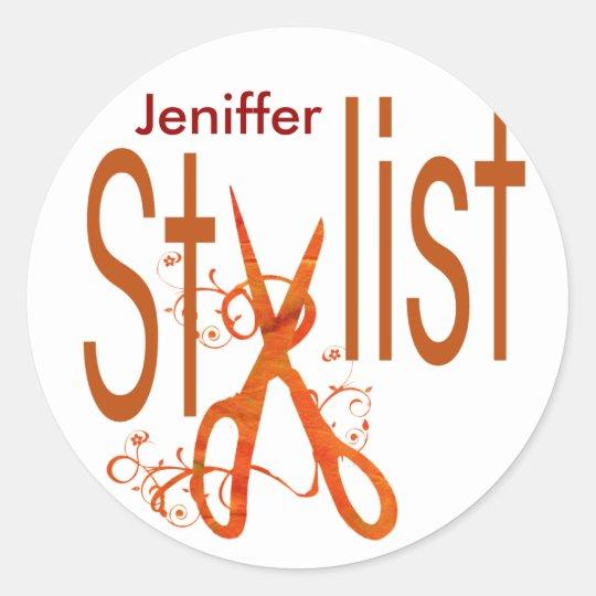 Beauty Diva Hair Stylist Salon Classic Round Sticker