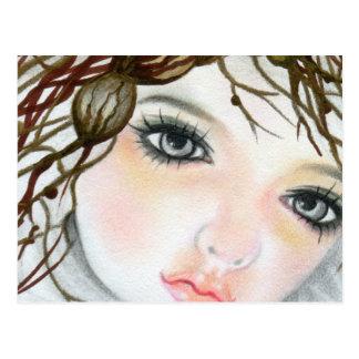 Beauty Doll  Face Crown postcard
