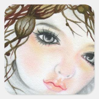 Beauty Doll  Face Crown sticker