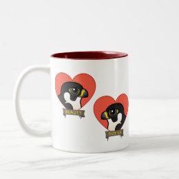 Beauty & Dot.Ca Hearts Two-Tone Coffee Mug