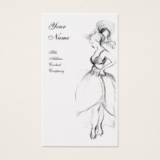 BEAUTY, FASHION DESIGNER ,black and white pearl Business Card