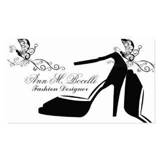 Beauty Fashion  Modern Shoe Butterfly Chic Couture Pack Of Standard Business Cards