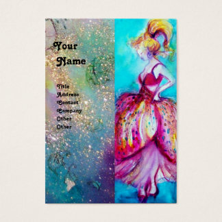 BEAUTY FASHION red pink blue green Business Card