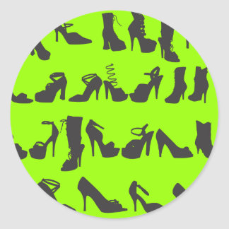 Beauty Fashion Shoes Silhouettes Classic Round Sticker
