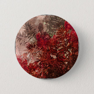 Beauty Floral Collage Pinback Button