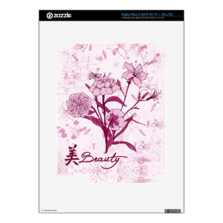 Beauty floral design skins for iPad 3