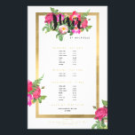 """Beauty Florals Hair Stylist White Flyer<br><div class=""""desc"""">Coordinates with the Beauty Florals Hair Stylist White Business Card Template by 1201AM. A beautiful and chic design motif featuring a colorful bouquet of flowers peaks out from behind the word &quot;Hair&quot;. Personalized with your name underneath and framed in a faux metallic gold foil box, this is the perfect hair...</div>"""