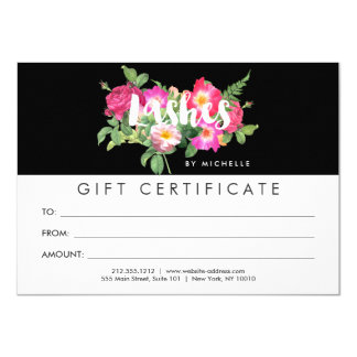 Beauty Florals Lash Extensions Black Gift Card