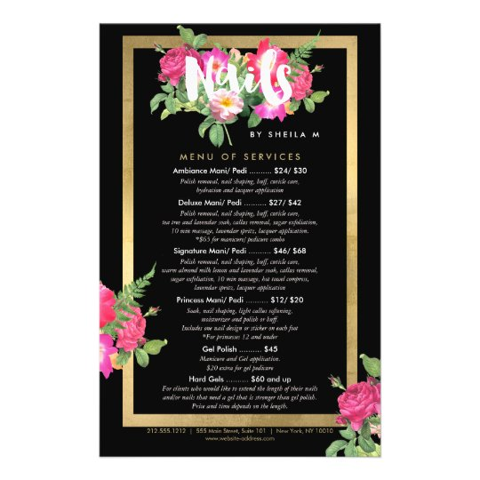 Beauty Fls Nail Salon Price List