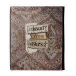 Beauty From Ashes Christian Damask Scrap iPad Folio Cases