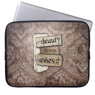 Beauty From Ashes Christian Damask Scrap Computer Sleeve