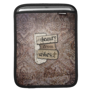 Beauty From Ashes Christian Damask Scrap iPad Sleeves