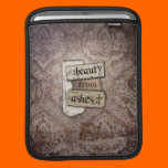 Beauty From Ashes Christian Damask Scrap iPad Sleeve