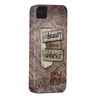 Beauty From Ashes Christian Damask Scrap iPhone 4 Cover