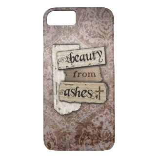 Beauty From Ashes Christian Damask Scrap iPhone 8/7 Case