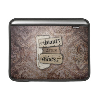 Beauty From Ashes Christian Damask Scrap MacBook Sleeve