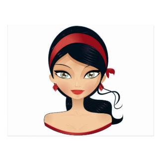 Beauty Girl Postcard