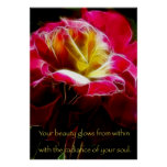 Beauty Glows Affirmation Poster