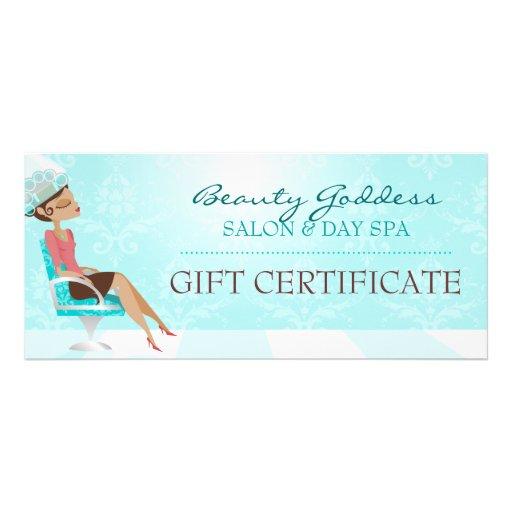 Beauty goddess gift certificate full color rack card zazzle for Zazzle gift certificate