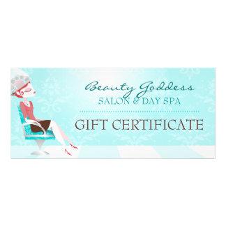 Beauty Goddess Gift Certificate Custom Rack Cards