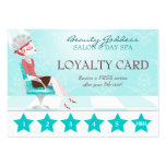 Beauty Goddess Loyalty Card Large Business Cards (Pack Of 100)