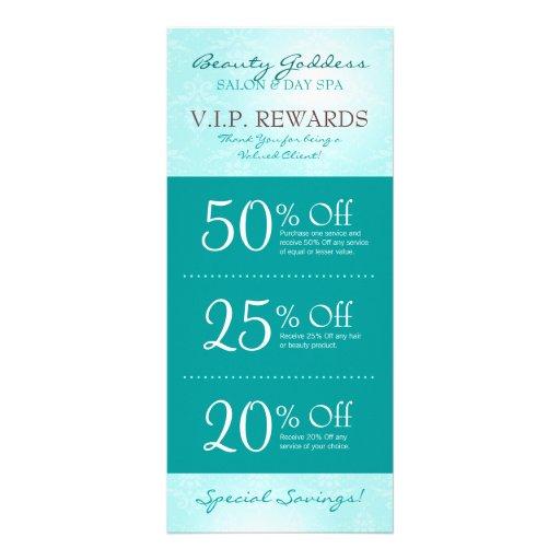 Beauty Goddess Salon Coupons Rack Cards | Zazzle