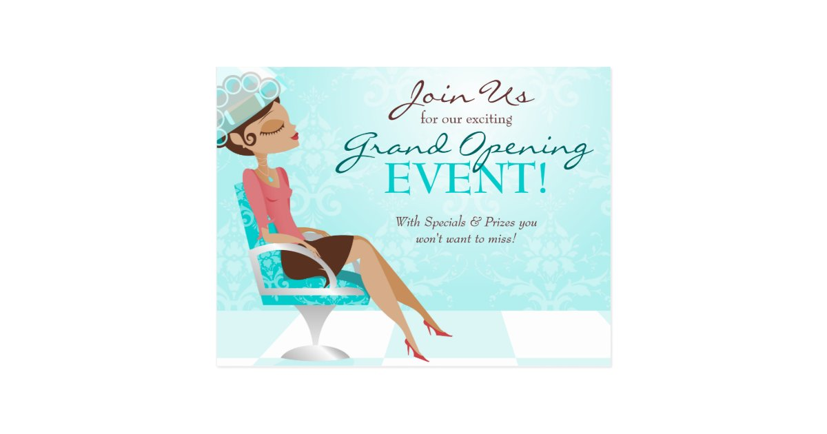 Beauty Goddess Salon Grand Opening Postcard Zazzle Com