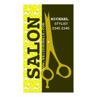 Beauty Hair Salon Professional Trendy Sheers Business Cards