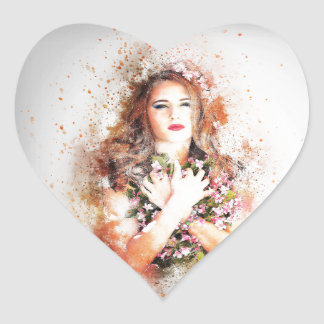 Beauty Heart Sticker
