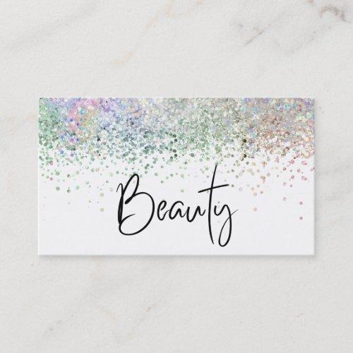 BEAUTY  Hologram Holograph  Pastel Glitter Business Card