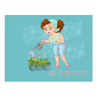 Beauty horoscope Aquarius Zodiac sign Postcard