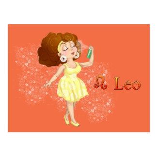 Beauty horoscope Leo Zodiac sign Postcard