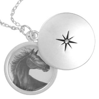 Beauty Horse Silver plated Locket