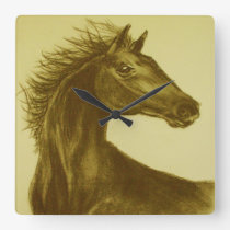 """Beauty"" Horse Wall Clock"
