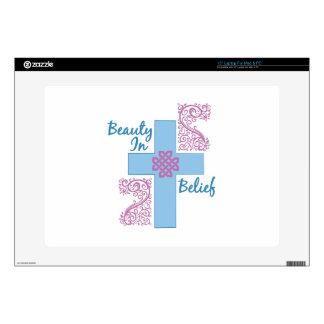 """Beauty In Belief Decals For 15"""" Laptops"""